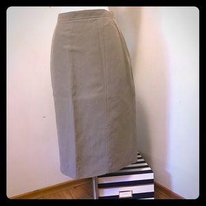 Armani linen and silk khaki pencil skirt size 10